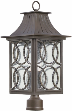 Kalco 404200AGB Monterey Traditional Aged Bronze Exterior Post Lamp