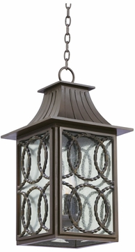 Kalco 404250AGB Monterey Traditional Aged Bronze Exterior Pendant Lamp