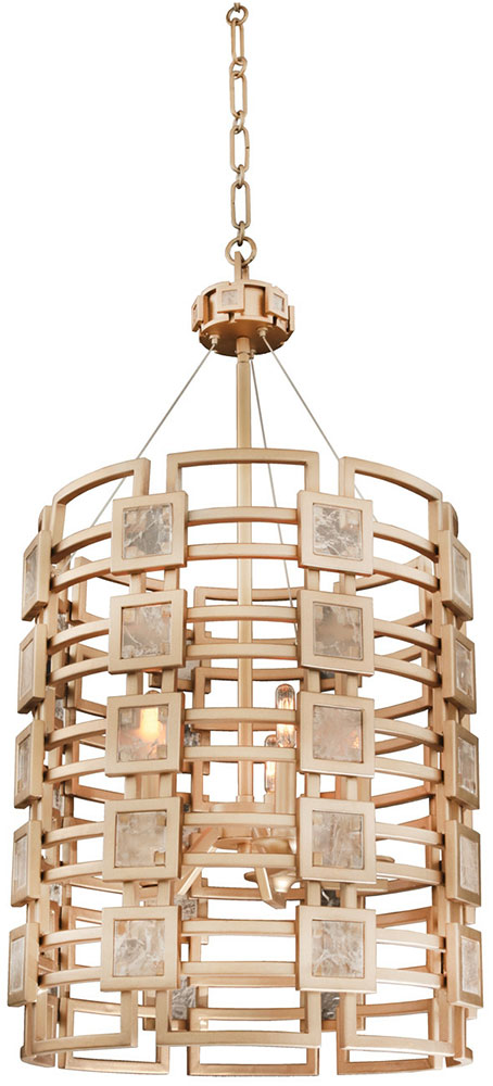 Gold Foyer Lighting : Kalco mg metropolis contemporary modern gold foyer