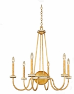 Kalco 500751HG LaSalle Honey Gold 30  Ceiling Chandelier