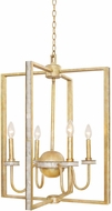 Kalco 500754HG Shorecrest Honey Gold Foyer Light Fixture