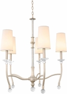 Kalco 500851PS Waverly Pearl Silver Chandelier Light