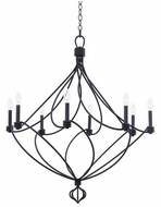 Kalco 500951CL Sundance Contemporary Charcoal 8-Light Chandelier Lighting