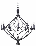 Kalco 500952CL Sundance Modern Charcoal 12-Light Lighting Chandelier
