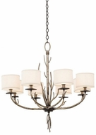 Kalco 501051BJT Denali Bronze Jewel Tone 8-Light Chandelier Light