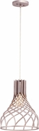 Kalco 501250PS Bleecker Contemporary Pearl Silver Mini Hanging Pendant Light