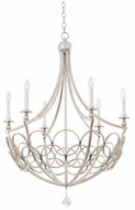 Kalco 501771GSL Loveland Traditional Gold Silver Leaf Hanging Chandelier