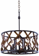 Kalco 501851MC Soho Contemporary Milk Chocolate 20  Hanging Light