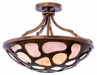 Kalco 501951CP Gramercy Contemporary Copper Patina Ceiling Light