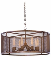 Kalco 502151CP Chelsea Copper Patina 32  Hanging Light Fixture
