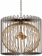 Kalco 502452BZG Metro III Contemporary Bronze Gold Hanging Lamp