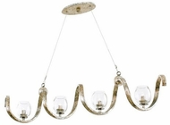 Kalco 502760PT Madison Contemporary Platinum Xenon Island Lighting