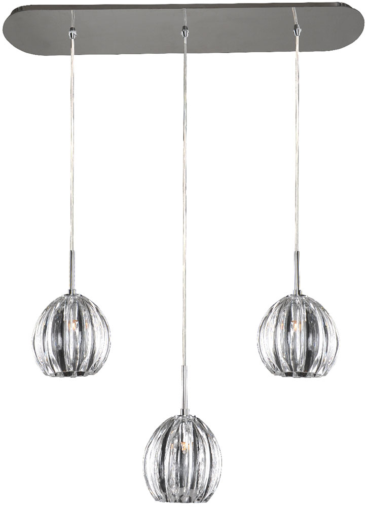 chrome pendant light kit viceroy contemporary xenon hanging fixtures bathroom