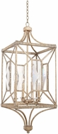 Kalco 503051PT Crystal Cove Platinum Entryway Light Fixture
