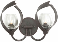 Kalco 504222OC Solana Oxidized Copper Xenon 2-Light Bath Sconce