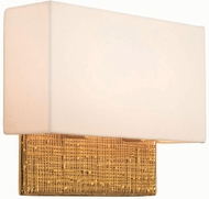 Kalco 504421GL Cestino Gold Leaf LED Wall Light Sconce
