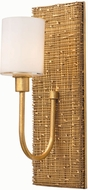 Kalco 504422GL Cestino Gold Leaf Wall Sconce Light