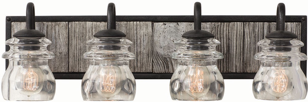 Lantern Bathroom Vanity Lights kalco 504634bi bainbridge black iron 4-light bathroom vanity light