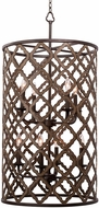 Kalco 504854BS Whittaker Contemporary Brownstone Drum Hanging Light Fixture