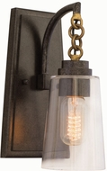 Kalco 504921MI Dillon Contemporary Milled Iron Wall Lighting