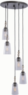 Kalco 504951MI Dillon Modern Milled Iron Multi Drop Ceiling Lighting