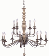 Kalco 506353DS Colony Dune Silver Chandelier Light
