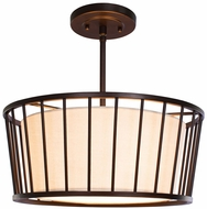 Kalco 507040BZ Pacifica Modern Bronze Pendant Hanging Light / Flush Mount Lighting
