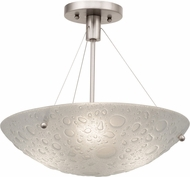 Kalco 5089 Cirrus Modern Satin Nickel Overhead Lighting