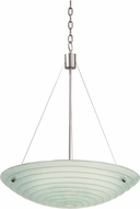 Kalco 5986SN Aqueous Modern Satin Nickel 20  Wide Hanging Light
