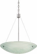 Kalco 5987SN Aqueous Contemporary Satin Nickel 24  Wide Pendant Light Fixture