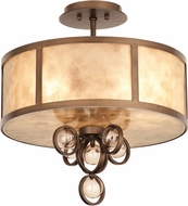 Kalco 6555 Sandhurst Antique Brass Flush Mount Ceiling Light Fixture