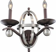 Kalco 6591 Rothwell Polished Satin Nickel Lighting Wall Sconce