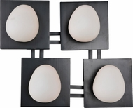 Kalco 6995 River Rock Contemporary Black Xenon Wall Lighting Fixture