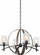 Kalco 7097 Irvine Contemporary Vintage Iron Hanging Chandelier