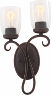 Kalco 7201 Castaic Antique Copper Wall Lamp