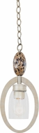 Kalco 7216 Largo Tarnished Silver Mini Hanging Light