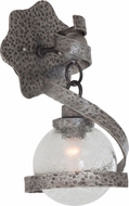 Kalco 7271 Odessa Contemporary Hammered Silver Lamp Sconce
