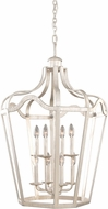 Kalco 7415PS Livingston Pearl Silver 22  Foyer Light Fixture