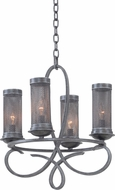 Kalco 7531 Delancy Vintage Iron Mini Hanging Chandelier