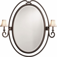 Kalco 810 Santa Barbara Satin Bronze Wall Mounted Mirror