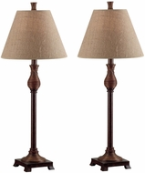 Kenroy Home 20392NR Santiago Natural Reed Buffet Lamp 2-Pack