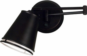 Kenroy Home 21009ORB Metro Oil Rubbed Bronze Wall Swing Arm Light