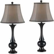 Kenroy Home 21059MBZ Abbott Metallic Bronze with Black Piping 2-Pack Table Lamp