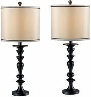 Kenroy Home 21070DGR Bobbin Dark Graphite 2-Pack Table Light