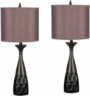 Kenroy Home 21072MBRZ Jules Mahogany Bronze 2-Pack Table Lighting