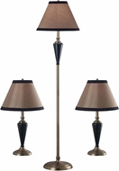 Kenroy Home 30349 Hunley Bronzed Brass 2 Table Lamps, 1 Floor Lamp