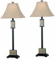 Kenroy Home 31201 Bennington Natural Slate Buffet Lighting 2-Pack