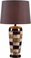 Kenroy Home 32273CER Torino Ceramic Multicolor Squares Table Top Lamp