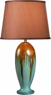 Kenroy Home 32366TEAL Tucson Teal Ceramic Glaze Table Lamp Lighting