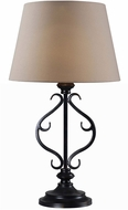 Kenroy Home 32397ORB Clairmont Oil Rubbed Bronze LED Table Top Lamp